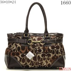 US2648 Coach Chelsea Signature Jayden Carryall X1660 - Brown 264