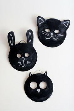 déguisement enfant halloween masque carton lapin chat