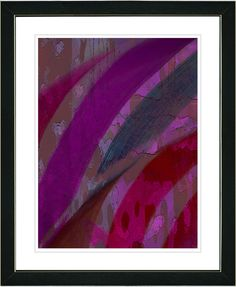 Cinnabar - Purple by Zhee Singer Framed Fine Art Giclee Painting Print