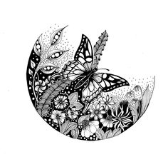 Doodle Art Drawing, Art Drawings, Piercings, Bear Coloring Pages, Colouring, Traditional Japanese Art, Stick Art, Dark Ink, Tangle Art