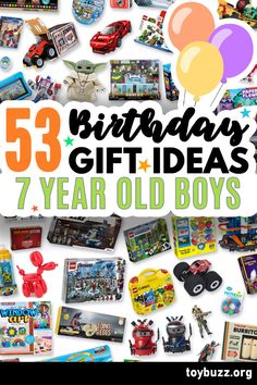 These 50+ Birthday Gifts for 7 Year Old Boys are gonna be amazing for our kids' birthday parties!! I can't believe you can see all of the coolest gifts for 7 year olds birthdays all in one place. 50 Birthday, 50th Birthday Gifts, Birthday Gifts For Women, Birthday Parties, Milestone Birthdays, 7 Year Olds, Old Boys, Our Kids, Cool Toys