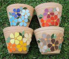 Resultado de imagen para vasos em mosaico