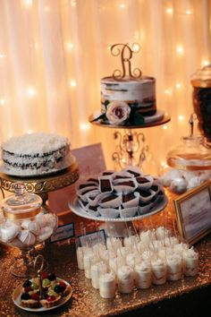Desserts and mini cake bar