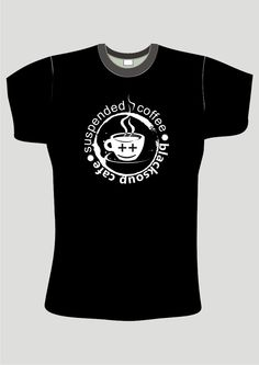 Suspended Coffee by chiliG Suspended Coffee, Logos, Mens Tops, T Shirt, Fashion, Moda, Tee, A Logo, Fasion