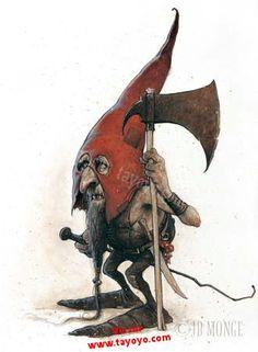 Image detail for -... dessins fantastiques (troll, lutin gnome, …) de Jean-Baptiste Monge