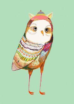 Illustraties van uilen