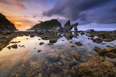 Between the Sky and Coral - This is in Nusa Penida island, Kelungkung - Bali. the name of this place is Atuh Beach.