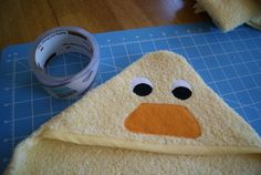 B is for Boy!: Duck Hooded Towel Tutorial