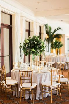Luxury Wedding | Mirromar Lakes | Organic Greenery Wedding | Trenholm Photo | Elleson Events | Grey and White Wedding | White Ruffled Linens | Candle Wedding Centerpiece