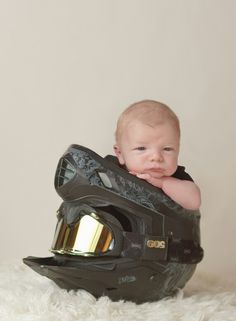 Cute baby in 509 helmet and goggles