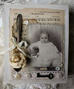 shabby altered box--i like the use of the old spoon (especially since i haven't had luck flattening spoons)