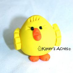 Baby CHUBBY CHICK  Polymer Clay Animal Totem by KatersAcres