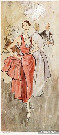 Christian Dior 1947 Réminiscence, Evening Dress, Bernard Blossac