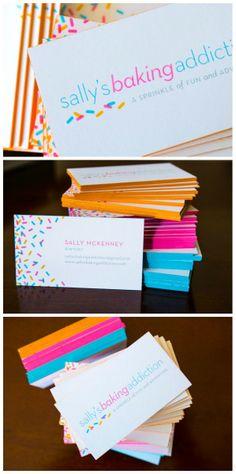 Colorful SBA Business Cards! designed by @Amanda Harris Bouquet Studio