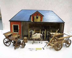Christian Hacker 1886 Doll House People, Bryer Horses, Lincoln Logs, Toy Barn, Haunted Dolls, Miniature Rooms, Antique Christmas, Country Art, Antique Toys