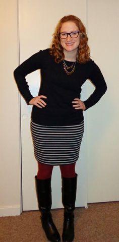 striped dress colored tights - Recherche Google