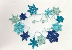 Apaixonar-se Guirlanda Estrelas do Natal Crochê -  /  Falling in Love Garland Christmas Stars Crochet -