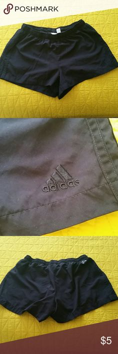 Running Shorts Black running shorts.  Built in compression shorts underneath.  Drawstring. In great condition. addidas Shorts