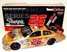 2006 Jamie McMurray #26 Sharpie Copper 1/24 TC Preferred Diecast 5X SIGNED by Trackside Autographs. $149.95. This 2006 Jamie McMurray Sharpie Copper Finish Preferred diecast has been TEAM SIGNED by 5, including the following: *JAMIE MCMURRAY* (#26 Crown Royal Driver) *BOB OSBOURNE* (#26 Crew Chief) *JACK ROUSH* (#26 Car Owner)*SCOTT RADEL* (#26 Jack Man) *CHAD NORRIS* (#26 Car Chief). Jamie McMurray made a name for himself in 2006 when he took over the open spo...