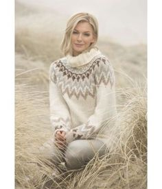 Fair Isle Knitting Patterns, Knit Patterns, Icelandic Sweaters, Knit Crochet, Crochet Pattern, Raglan, Sustainable Clothing, Sweater Design, Garter Stitch