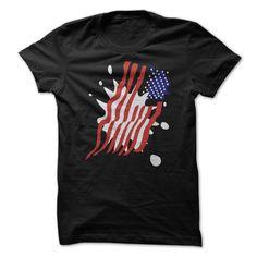 USA Stars and Stripes Splat Art T Shirt T Shirt, Hoodie, Sweatshirt