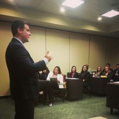 Managing partner Chris addressing the management meeting at our Dallas leadership conference.