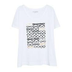89f9c288bc7 Violeta by Mango Printed Cotton T-Shirt