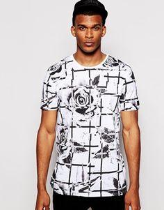 Black Kaviar Longline Rose T-Shirt