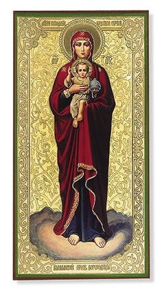 Our Lady of Valaam Embossed Icon