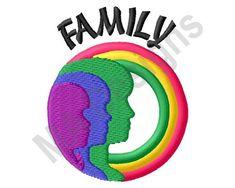 Family Machine Embroidery Design Rainbow Pride | Etsy