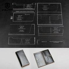 Acrylic long wallet leather template DIY Leathercraft Tool Leather pattern | Crafts, Leathercrafts, Leathercraft Tools | eBay!