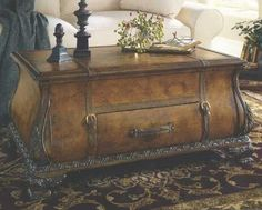 Old World Map Bombay Trunk Coffee Table - #onewayfurniture #dreamroom