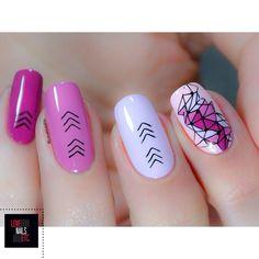 Définitivement fan de ce nail art!  #StampingMaster  #bundlemonster #lovenailsetc #nailart #ombrenails #camaieu #pink #pinkstyle by love_nails_etc