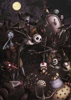 Dark art: Nightmare Before Christmas