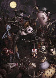Dark art: Nightmare Before Christmas