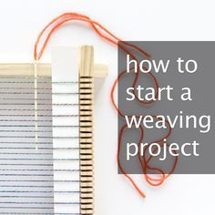 Superb Click through to learn how to start a weaving project! The post Click through to learn how to start a weaving project!… appeared first on Derez Decor . Weaving Textiles, Weaving Art, Weaving Patterns, Loom Weaving, Tapestry Weaving, Hand Weaving, Stitch Patterns, Knitting Patterns, Rug Loom