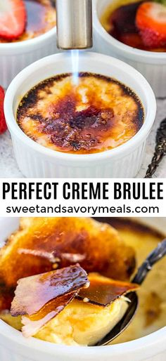 Perfect Creme Brulee [Video] - Sweet and Savory Perfect Creme Brulee [Video] – Sweet and Savory Meals Creme Brulee is a perfect dessert of rich custard and topped with caramelized sugar. It is festive and delicious to make for a special occasion. Best Dessert Recipes, Easy Desserts, Sweet Recipes, Holiday Recipes, Delicious Desserts, Yummy Food, Recipes Dinner, Dessert Ideas, Pasta Recipes