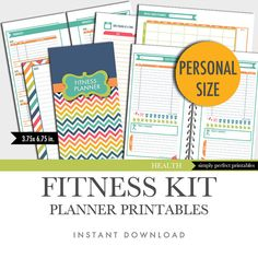 Fitness Planner Inserts  Personal Size  by FreshPaperiePlanners