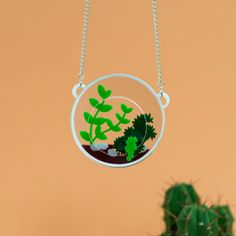 Terrarium statement necklace by Finest Imaginary - love the 3D design of this piece