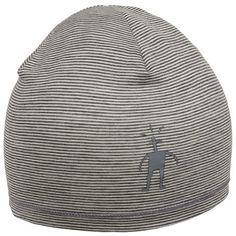 SmartWool NTS Micro 150 Pattern Beanie Hat - Merino Wool (For Men and Women) in Silver Grey Heather