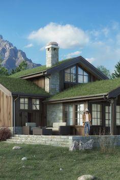 Toit végétalisé - Sea and Mountain Cabins Part02 on Behance