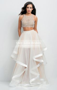 dress up ballet shoes on sale at reasonable prices, buy Vestidos De Formatura Two Piece Prom Dresses 2015 New Beaded Organza 2 Piece Prom Dress Vestidos De Noche Formal Evening Gowns from mobile site on Aliexpress Now! Pretty Dresses, Sexy Dresses, Beautiful Dresses, Formal Dresses, Terani Dresses, Long Dresses, Formal Prom, Summer Dresses, Glamour By Terani Couture
