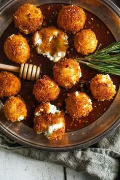 Fried Goat Cheese with Tarragon + Honey