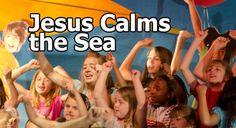 Jesus Calms the Sea Sunday School Lesson Preschool Bible Lessons, Bible Lessons For Kids, Bible For Kids, Primary Lessons, Sunday School Lessons, School Fun, School Ideas, Kids Church, Church Ideas