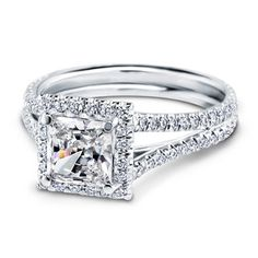 It's pretty much a given that any ring with FRENCH in the name is going to be gorgeous...French Cut Engagement Setting for Square Diamond - R2899 @ Adiamor