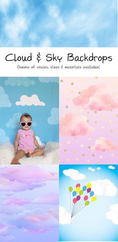 Float away with a funky and fun cloud backdrop from Backdrop Express Photographing Kids, Photography Backdrops, Clouds, Sky, Poster, Ideas, Heaven, Photographing Boys, Photo Backgrounds