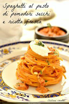 Pasta al pesto di pomodori secchi e ricotta | SICILIANI CREATIVI IN CUCINA | di Ada Parisi