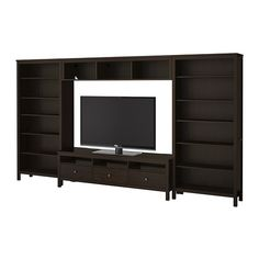 HEMNES TV storage combination - black-brown - IKEA - I'm kind of really liking the brown one too honey! Might go real nice with OUR couch. So the living room would continue w/ white and brown :)