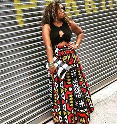 Style & Poise-NYFW Essence Street Style (African Print Maxi, Samacaca Print)