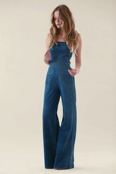I'm obsessed with flared overalls